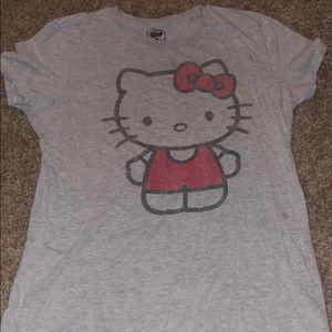 Gray HELLO KITTY T-Shirt